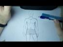 Как нарисовать аниме Тело, Торс, Туловище Парня _ Как рисовать аниме с нуля 7