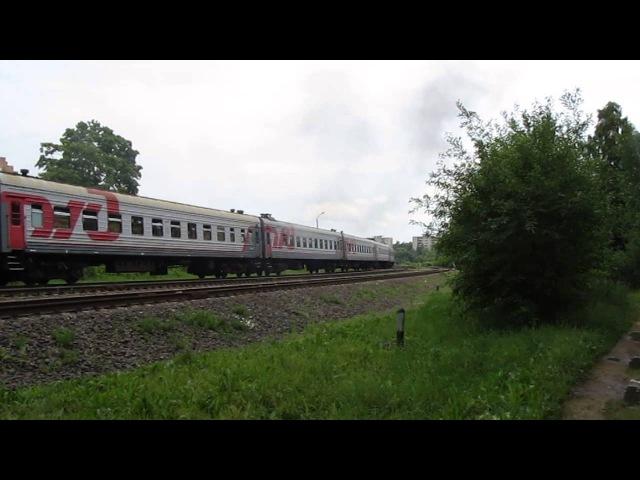 БЧ / РЖД ТЭП70-0227 с поездом Санкт-Петербург-Одесса