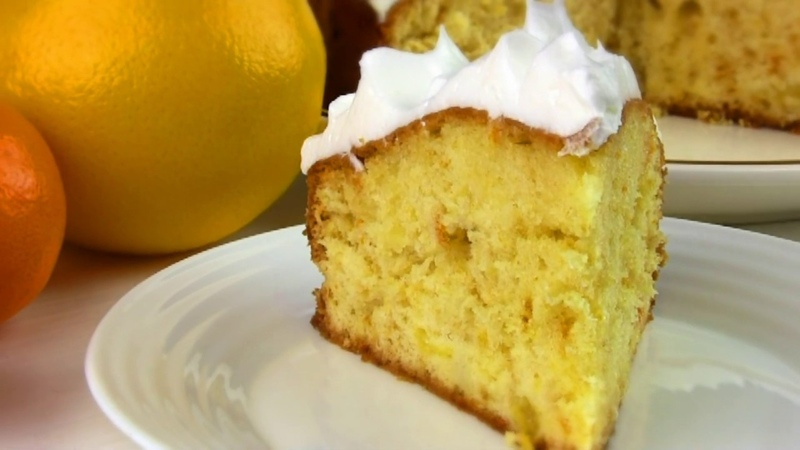 Пирог Нежнейший,Тает На ГубахВлажный Апельсиновый Бисквит