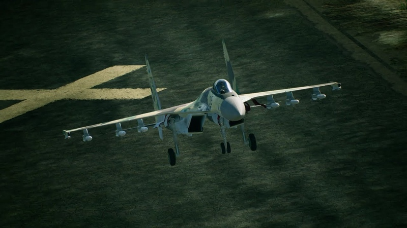 「ACE COMBAT TM 7 SKIES UNKNOWN」Game Feature Briefing 4 Aircraft 「Su 35S」