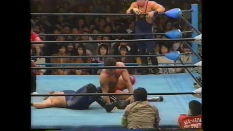 1992.03.06 - Dan KroffatDoug Furnas [c] vs. James Earl WrightBuddy Lee Parker [JIP]