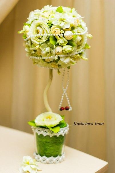 МК по созданию цветочного топиария  Автор: Ирина Кочетова