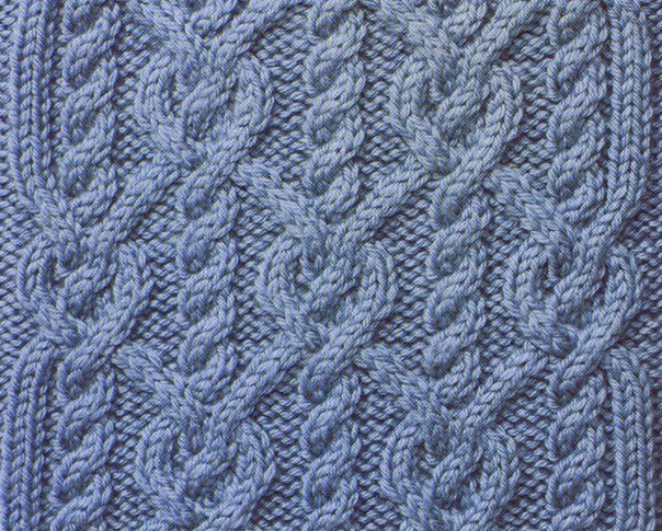 подборка вязание спицы схема узор идея рукоделие… (10 фото) - картинка