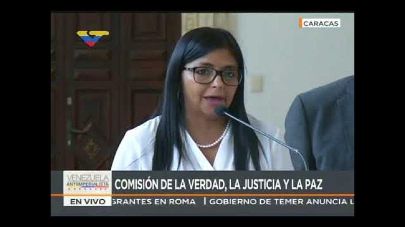 Delcy Rodríguez Comisión de la Verdad admite sanciones como pruebas contra Julio Borges