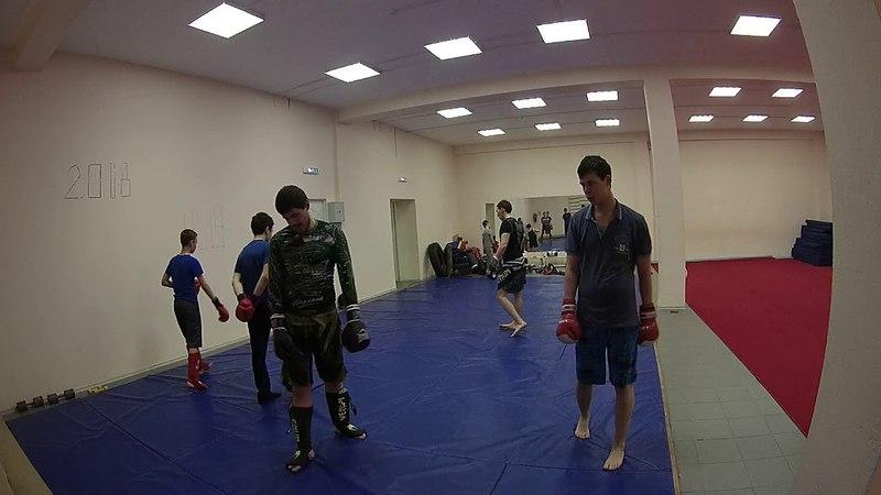 Спаринги с Диманом 05.04.18 УШУ Саньда