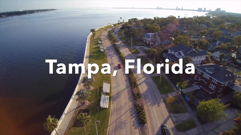 Bayshore Downtown Tampa in Florida/Best Drone Shots