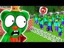 ЖЕЛЕЙНЫЙ МИШКА В МАЙНКРАФТ против 1000 ЗОМБИ МУЛЬТИК Игра Minecraft DIVERSITY Multi Pulti