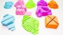 DIY Сделай Сам Квадратики из кинетического песка Изучение цветов