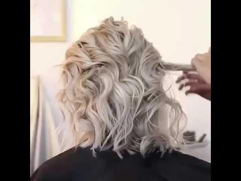 Elegant updo for short hair