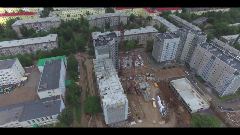 Видеоотчет хода строительства второго дома ЖК Изумрудный - август 2017
