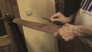 Правка опасной бритвы на ремне Straight razor stroping