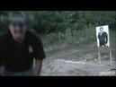Оружие купил, а вот мозги не купил. Видео урок как не надо стрелять.