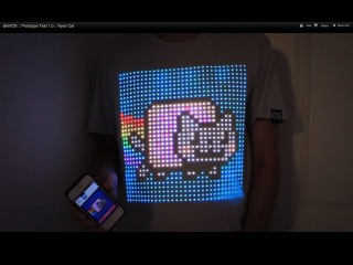 tshirtOS :: Prototype Test 1.0 :: Nyan Cat