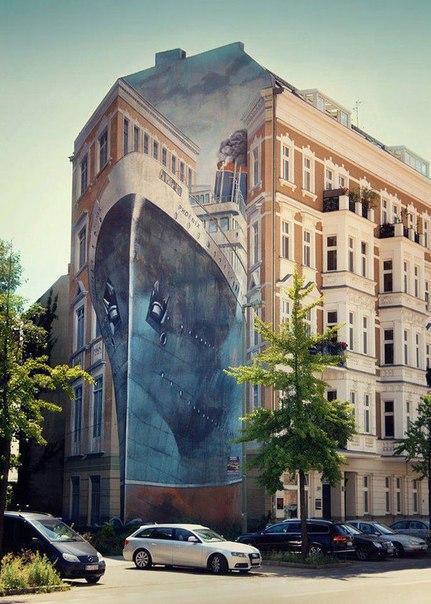 Удивительное граффити в Германии.