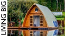 This Floating Tiny Cabin Is The Ultimate City Escape || Living Big In A Tiny House