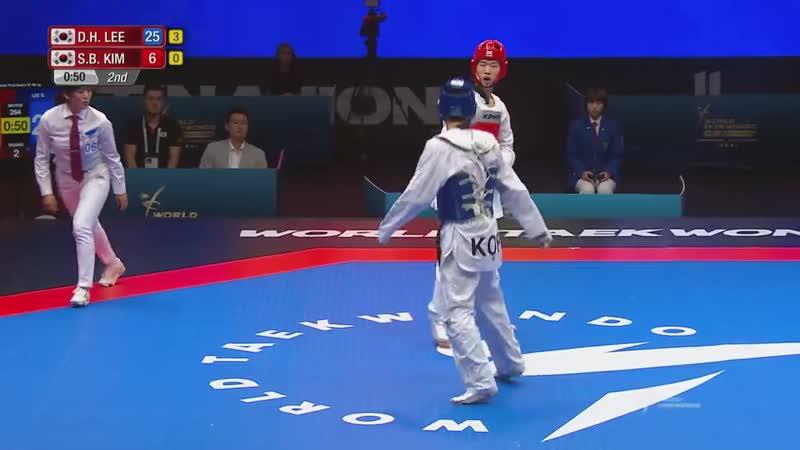 Fujairah 2018 WT GP FINAL, Final Match [Male -68Kg] Dae-hoon LEE(KOR) vs Seok-bae KIM(KOR)