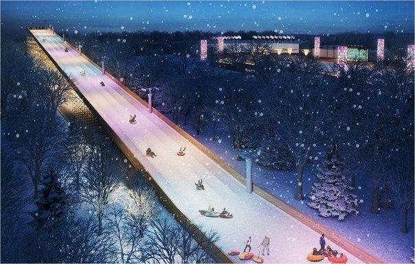В Сокольниках будет самая большая горка в Москве