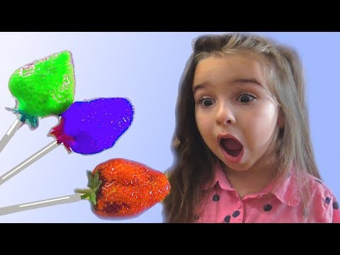 Learn Colors With Candy Giant Lollipops for Kids Children Toddlers Songs Finger Family Nursery Rhyme