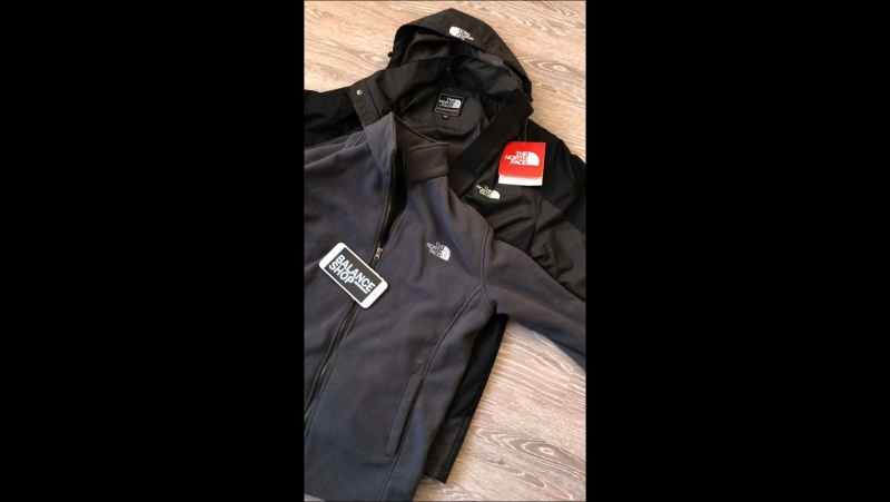 Зимняя куртка TNF термо толстовка