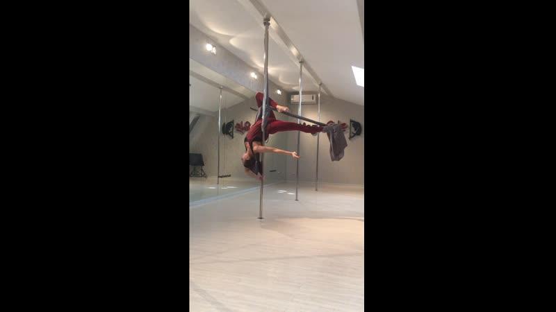 Pole Silks Trick - Анастасия Лань