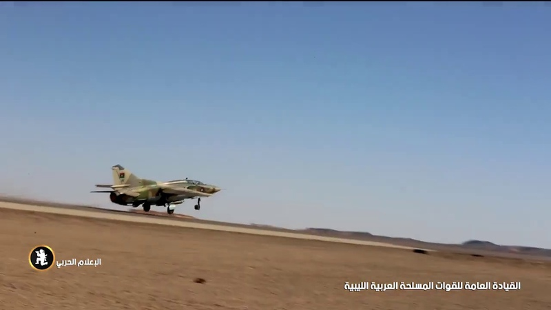Libyan National Army MiG-23 intercepting an airliner over Southern Libya