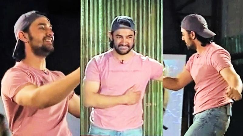 Aamir Khan Sings And Dances To AAYE HO MERI ZINDAGI From RAJA HINDUSTANI