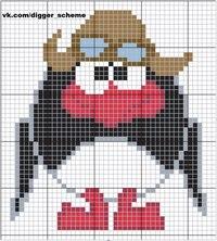 """Схема для вышивки крестом героя мультфильма  """"Смешерики """" Пина.  Схема поставляется на бумажном носителе или в..."""