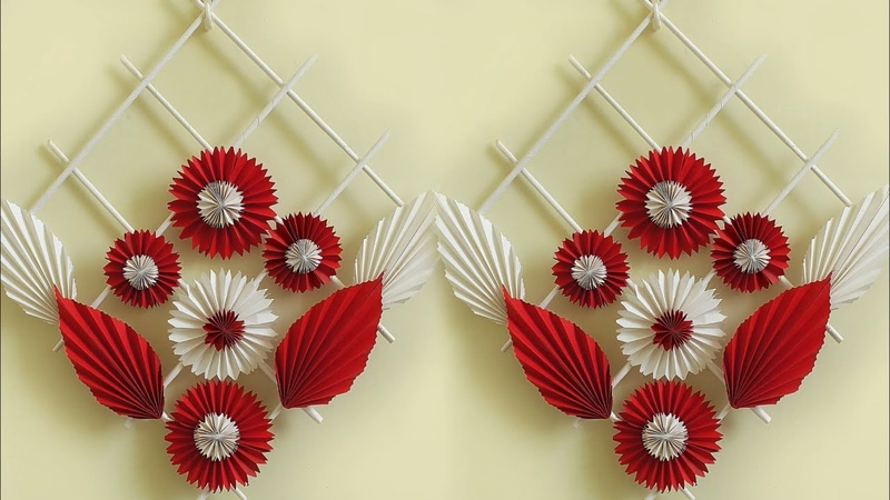Genius Craft Idea out of Paper    DIY Room Decor 2018   Handmade Craft   Wall Hanging Making at Home