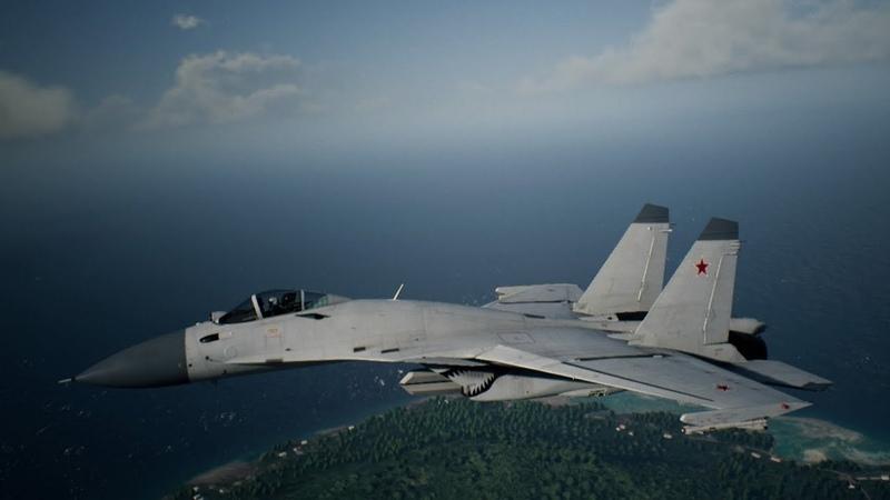 Ace Combat 7: Skies Unknown - Su-33 Unlock Erusia White Skin\Ps4