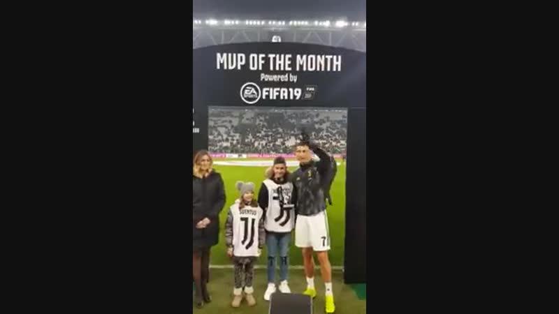 Криштиану вручили награду лучшему игроку Ювентуса в декабре