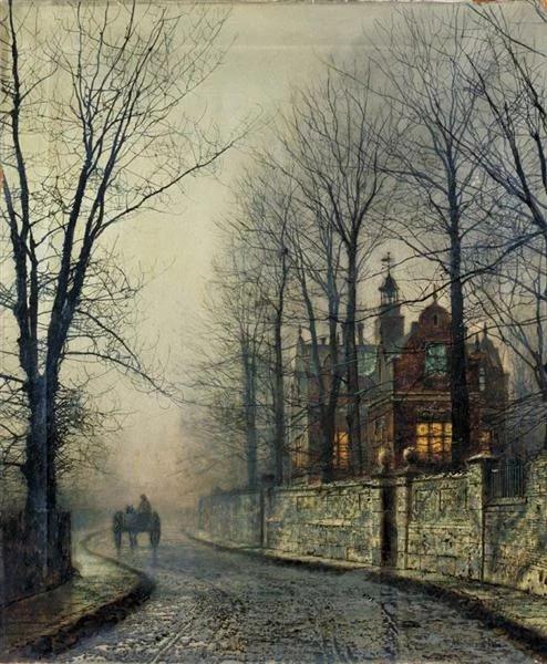 Джон Эткинсон Гримшоу John Atinson Grimshaw (1836-1893 - английский художник. Родился в городе Лидс на севере Англии. О его детстве и юности известно мало. По настоянию родителей работал