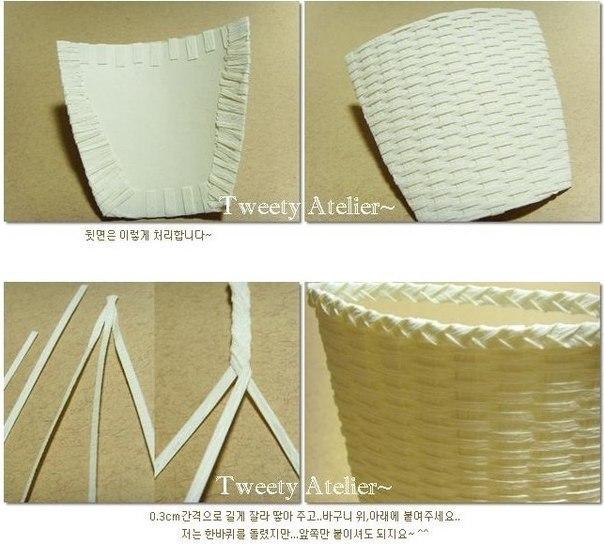 Как сделать своими руками корзина из бумаги своими руками