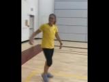 Данк на тренировке женской команды WNBA Indiana Fever