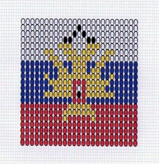 флаг россии в векторе