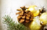 шишка новый год ёлка снег игрушки