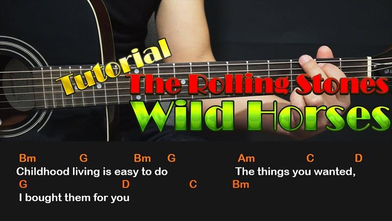 Como tocar - Wild Horses - THE ROLLING STONES - Guitarra Acustica Tutorial (HD)