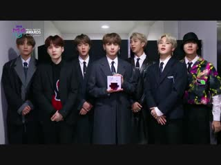 181106 BTS Message for the 2018 MGA IDOL CHAMP Global Popularity Award Winner