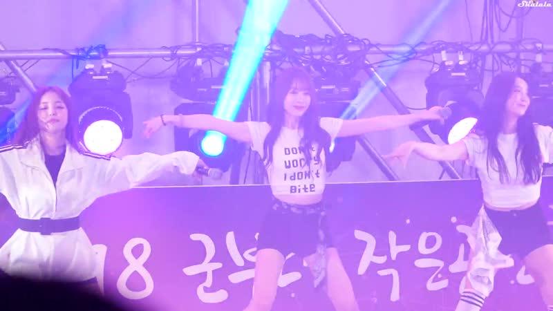 181005 Brave Girls - Easily (Eunji) @ OO Military Camp