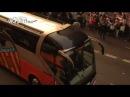 Llegada del autobús del Valencia CF a Mestalla