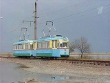 По крымской степи курсирует раритетный трамвай - Первый канал