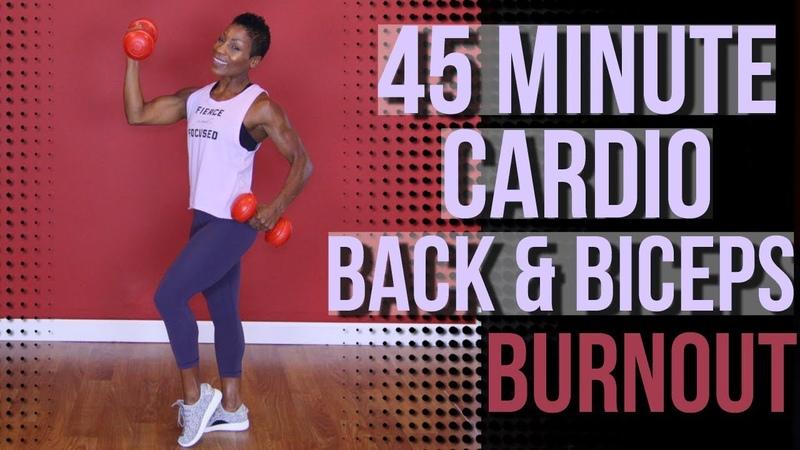 Cardio Back Bicep Burn | Strength Training | Cardio | Follow Along