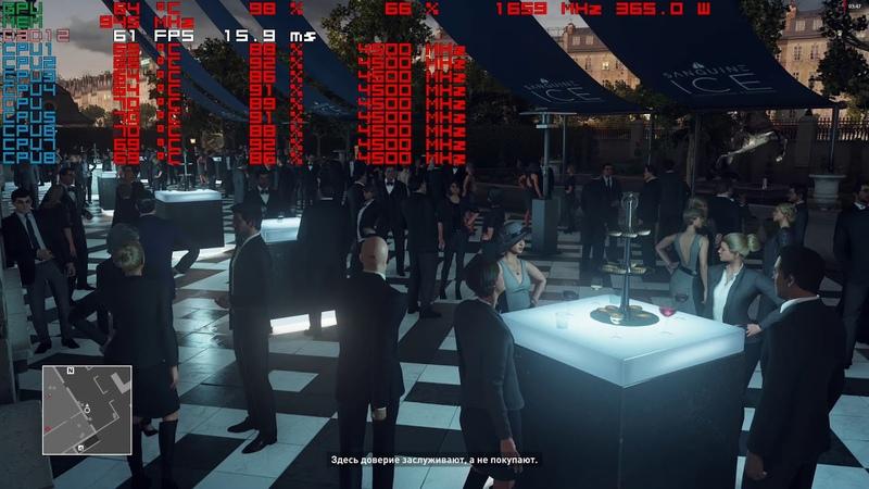 Hitman dx12 4k,2160p gameplay rx vega 64 liquid