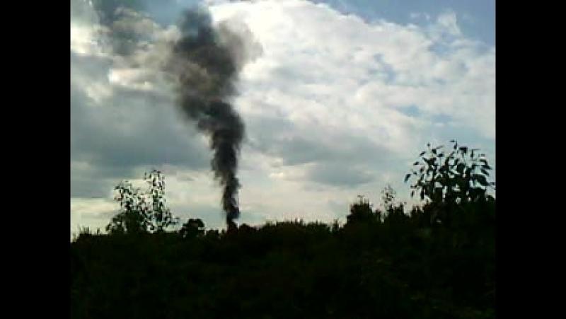 Пожар на ул. Ильина видно даже с ул. Промышленной
