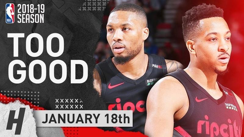 Damian Lillard CJ McCollum SICK Highlights Trail Blazers vs Pelicans 2019.01.18 - TOO GOOD!