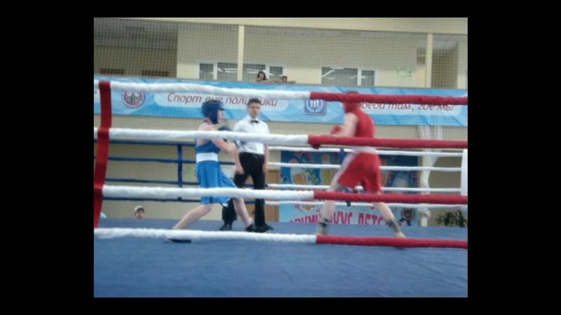 17-19 мая 2018г 3 раунд полуфинального боя Стародубцева К. на турнире, посвященном памяти Е.А. Дерягина. Вес. категория 57 кг.
