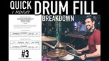 Quick Drum Fill Breakdown #3 - Advanced Drum Lesson by Nick Bukey