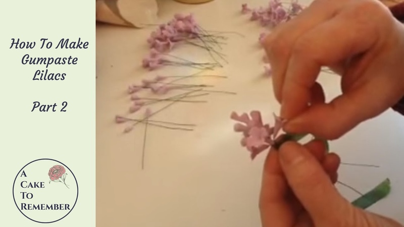 How to make gumpaste lilacs for cake decorating part 2 wiring the flowers