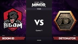 RU BOOM ID vs DeToNator, Game 1, SEA Qualifier, StarLadder ImbaTV Dota 2 Minor
