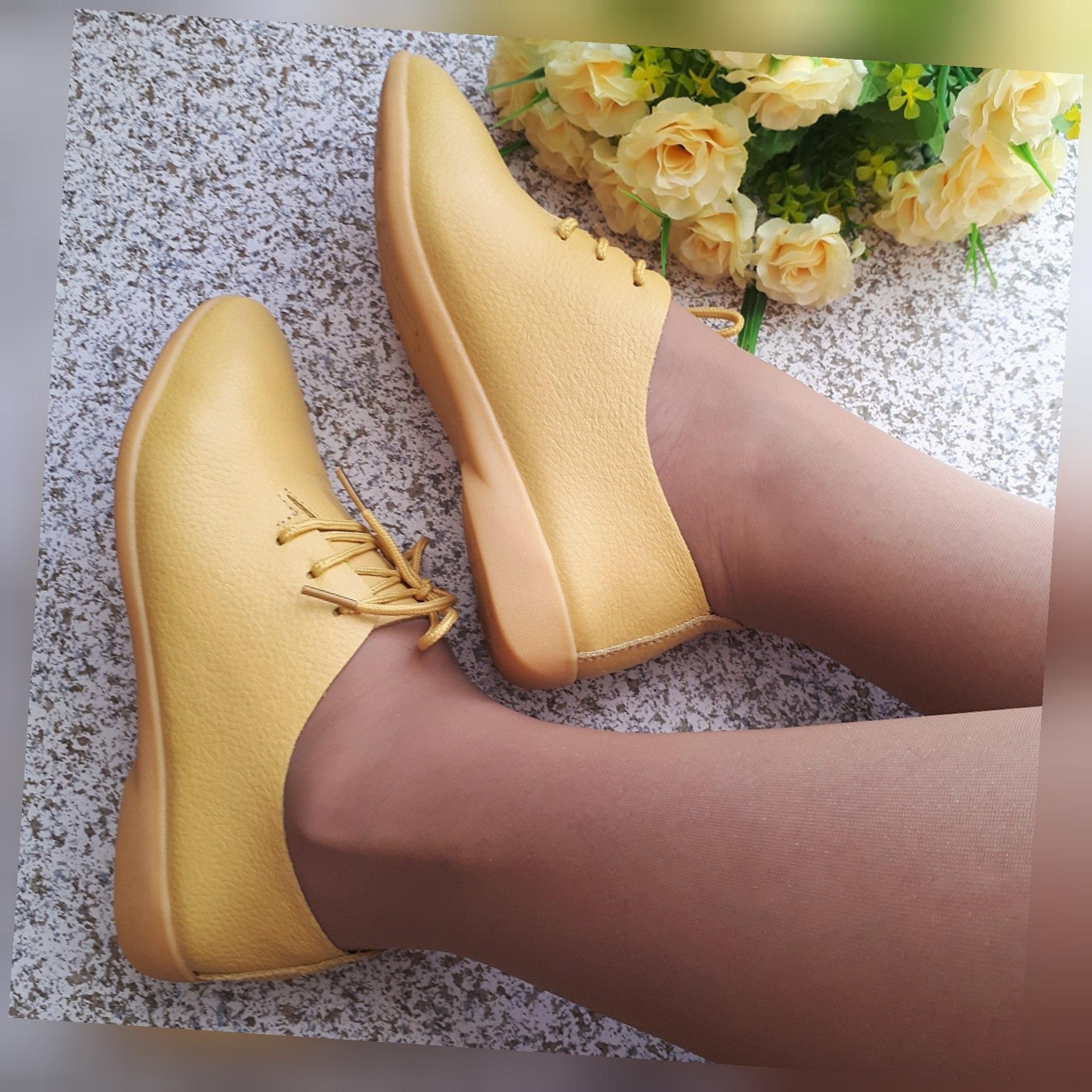 Желтые туфли-оксфорды от Nysiani