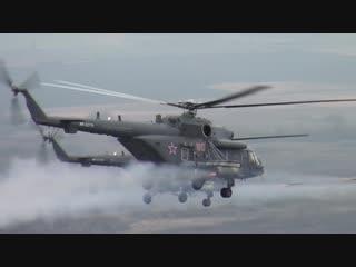 Стрельбы вертолетчиков ЮВО по наземным целям на дальних расстояниях